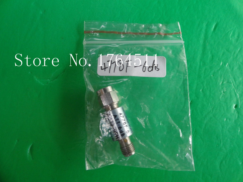 [BELLA] NARDA 4778F-6 DC-12.4GHz Att:6dB P:2W SMA Coaxial Fixed Attenuator  --2PCS/LOT