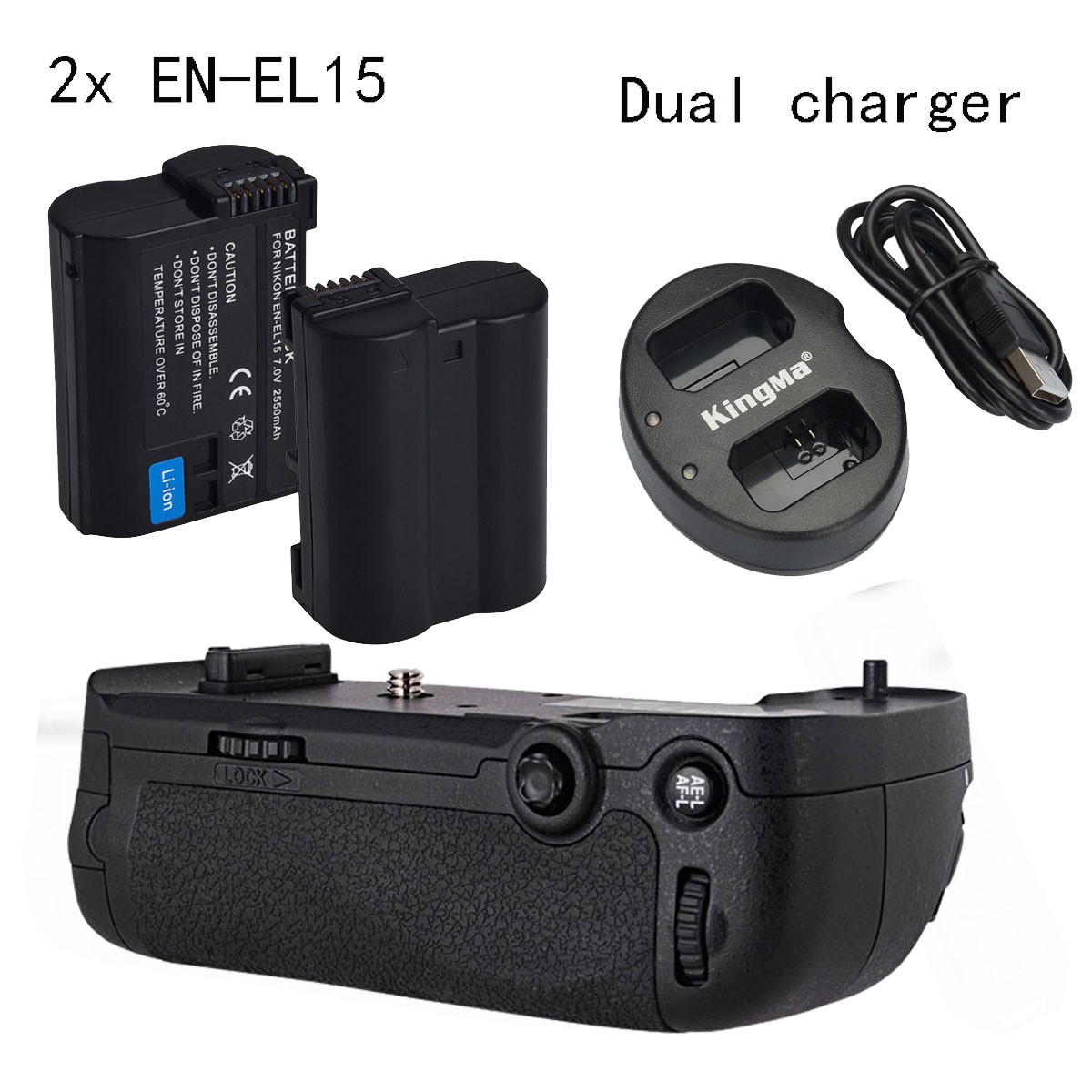 Meike vertical Battery Grip MK-D800 MK D800 for Nikon D800 D810 as MB-D12 + 2*EN-EL15 + Dual Charger meike mk dr750 vertical battery grip pack holder for nikon d750 rechargeable li ion battery for nikon en el15 cleaning kit