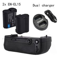 MK D800 Meike MK-D800 Punho de Bateria vertical para Nikon D800 D810 como MB-D12 + 2 * EN-EL15 + Carregador Duplo