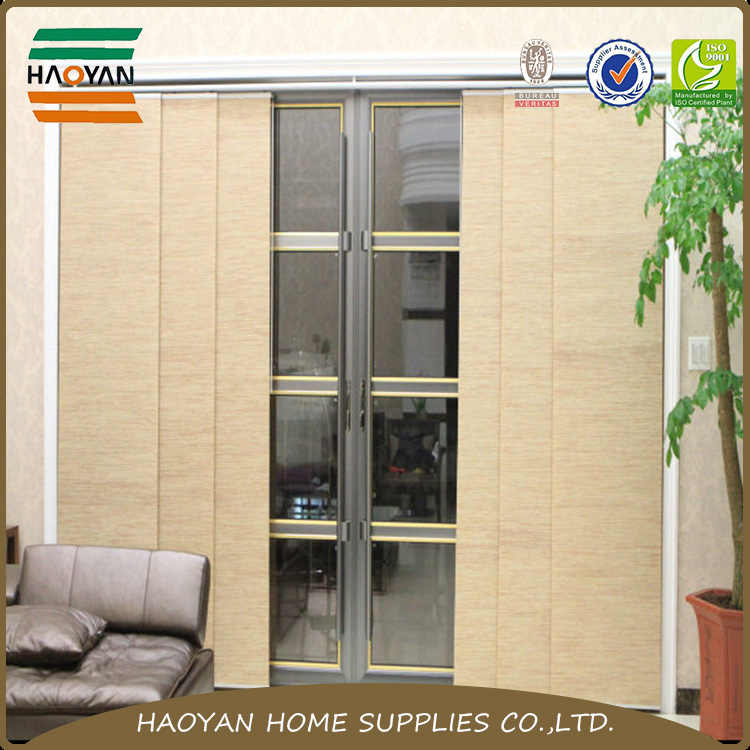 Aluminum Alloy Custom Sized Blinds Fabric Sliding Door Curtain Door Blinds Paper Wooden Door
