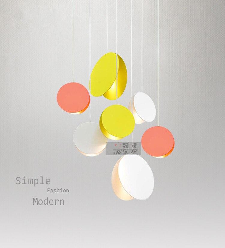 Nórdico moderno ambit pingente luzes dinamarca colorido macaron alumínio led luminária cozinha restaurante luz luminárias de teto Luzes de pendentes     - title=