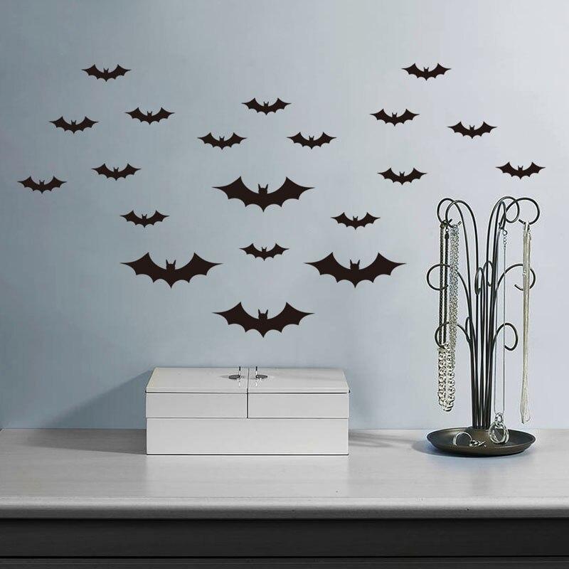 DIY Bats Wall Stickers Kids Bedroom Halloween Wall Art Decals