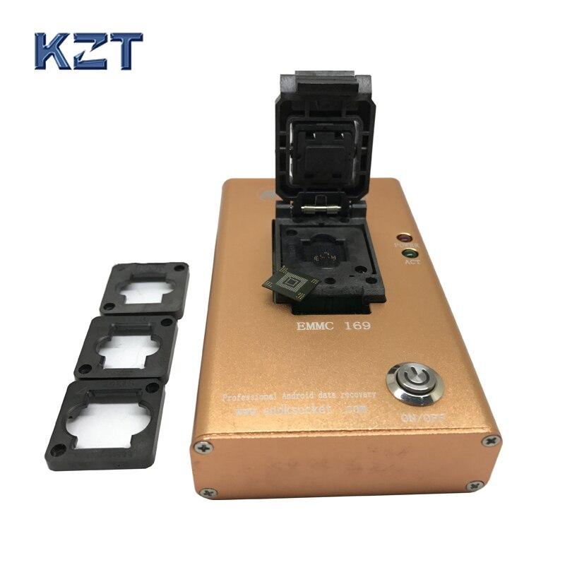 EMMC153 169 tomada dispositivo de recuperação de dados para o telefone android chips NAND flash Resgate Contatos, Mensagens, Fotos e recentemente arquivos