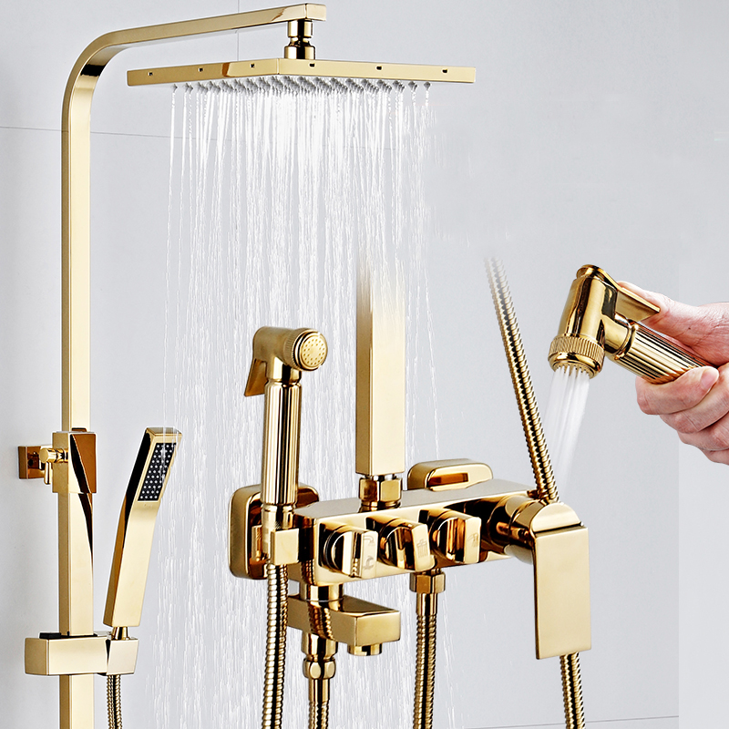 Promo calda Vasca da bagno Rubinetti di Lusso Oro In ...
