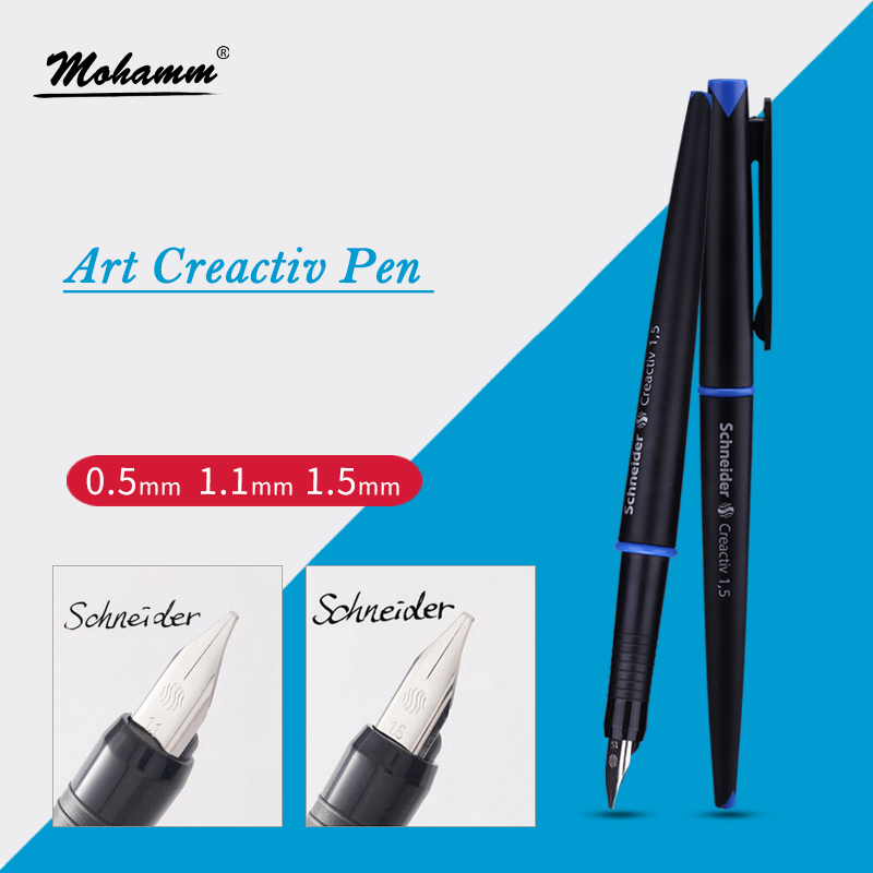 0.5mm 1.1mm 1.5mm Calligraphy Fountain Pen Art Holy Glyph Bend Relief Calligraphy Art Pen Calligraphy italic nib art fountain pen arabic calligraphy black pen line width 1 1mm to 3 0mm