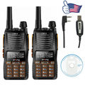 2 PCS Baofeng GT-5 Dual Band 136-174/400-520 MHz Dual PTT FM Ham Two Way Radio Walkie Talkie + Programming Cable&CD