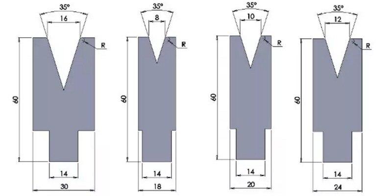 full list 42CrMo single v down tooling for wc67k hydraulic press brake  full list 42crmo 2v down tooling for wc67k hydraulic press brake