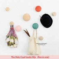 Hanger Floor Bag Wall Hanger Wood Dots Hook Rack Hook Muuto The Dots Coat Hooks Coat