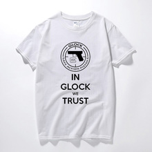 YUAYXEA Summer Camisetas Hombre T shirt Glock Handgun USA Logo T-shirt Cotton Short Sleeve Tshirt Tops Fashion Tee shirt homme