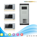 1080P HD colorful screen LCD Video Door Phone Support Photograph SD Card Recording 700TVL IR Camera 3 monitor intercom kit
