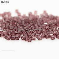 Isywaka 1980pcs Cube 2mm Purple Red Color Square Austria Crystal Bead Glass Beads Loose Spacer Bead