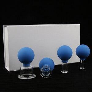 Image 5 - 바디 페이스 레그 암 백 숄더 용 4x 유리 실리콘 마사지 진공 컵 컵 세트 키트