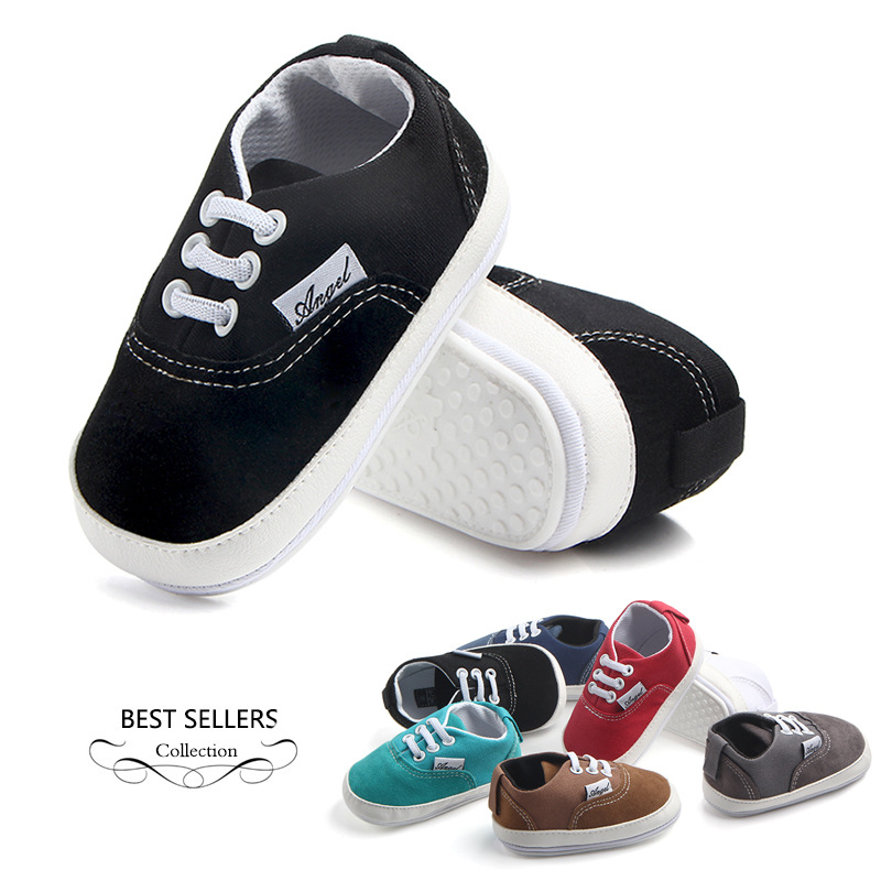12colors Rubber sole shoe for baby boy infant prewalking ...