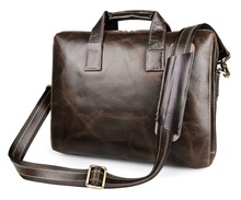 Free Shipping JMD 100% Real Leather Mens Briefcase Handbag Laptop Bags # 7167C-1