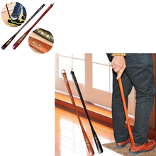 55 cm Ultra Long Mahogany Craft Wenge Wooden Shoe Horn Professional Wooden Long Handle Shoe Horn Lifter Shoehorn New Arrival(China)
