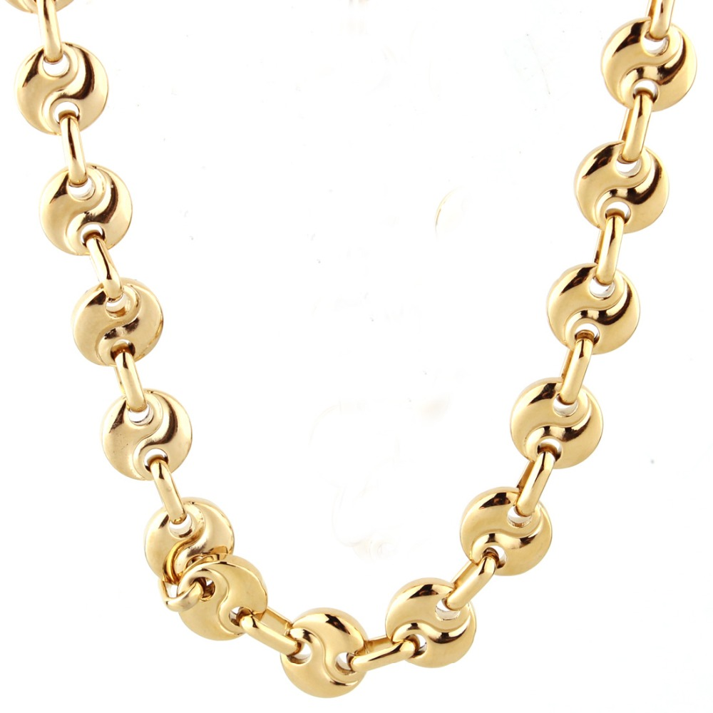 9mm Wide Personality Mens Stainless Steel Link Chain Necklace Or Bracelet Jewelry Silver Gold Tone,7-40