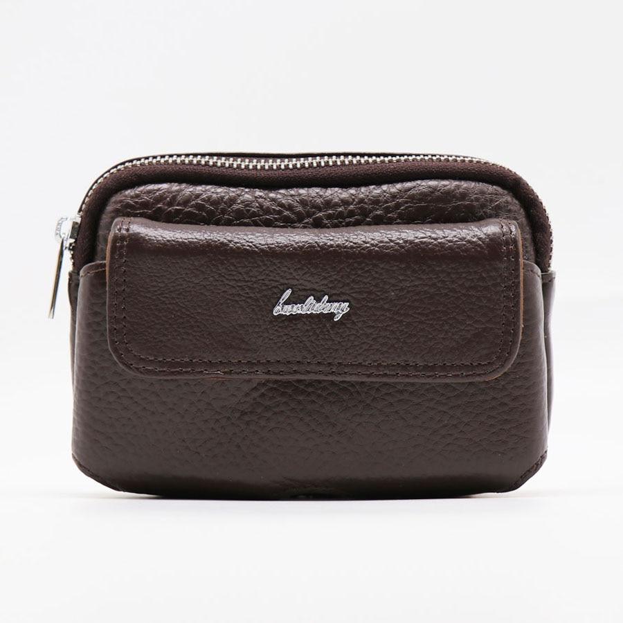 Brand Casual 5.5 'cellás / mobil telefon bőr pénztárca lyukasztó tok fedő táska férfi öv kereszt derék Pack Fanny táskák