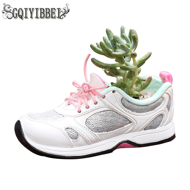 GQIYIBBEI 2018 New Resin Multi-meat Plant Pots Creative Indoor Shoe-type Potted  Garden Decoration Craft Ornaments pot plant