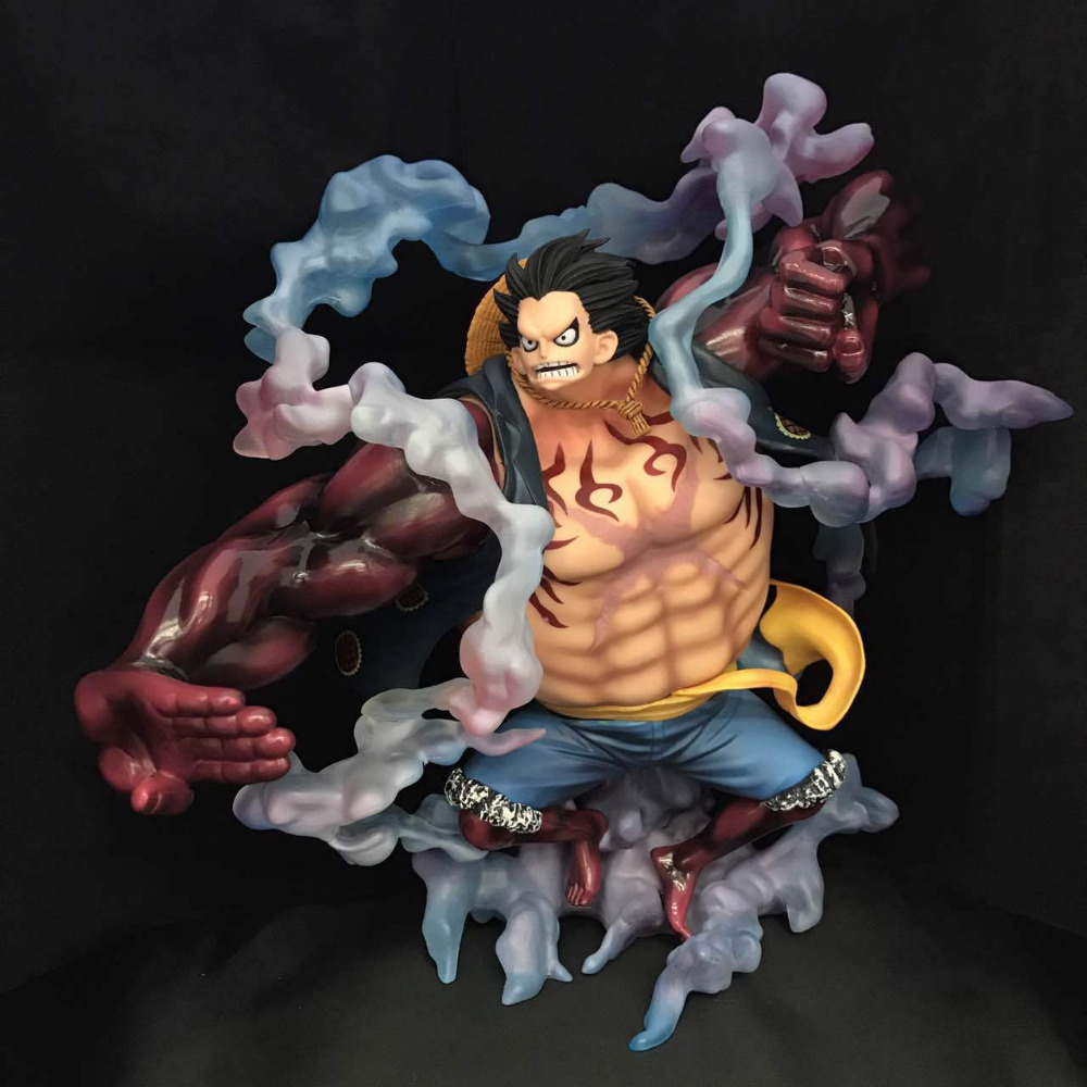 11 inch One Piece P.O.P Monkey D Luffy Gear 4 Sa-maximum ver. Boxed 28cm PVC Anime Action Figure Collection Model Doll Toys Gift new anime one piece kaido four emperors edward newgate white beard big mom 24cm pvc action figure model doll toys in boxed