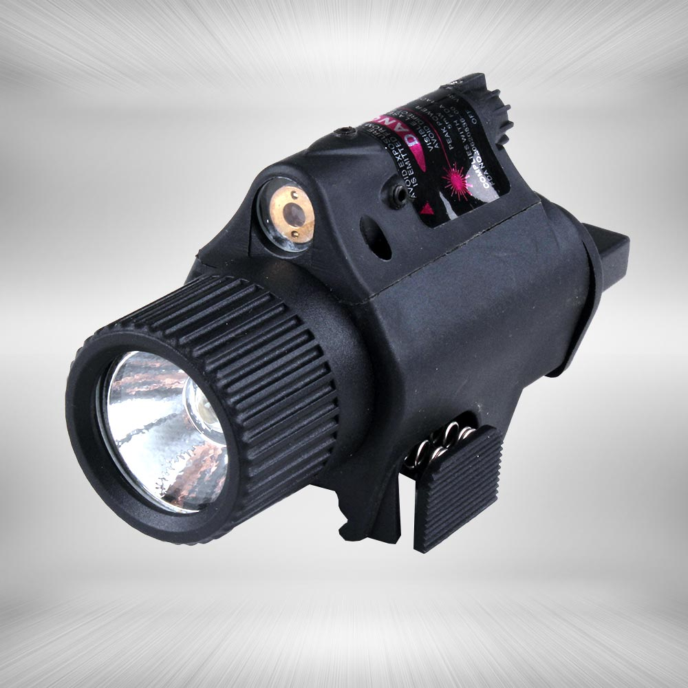 Tactical Quick Release 5mW Powerful M6 Red Dot Laser Sight Scope Set for Rifle Pistol Shot LED Flashlight Red Laser Combo Sight