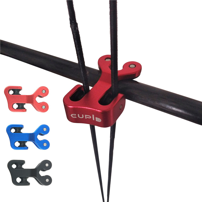 3/8 pouces En Aluminium Composé Arc Câble Glisser Tir À L'arc Arc Chaîne Splitter Rouleau Glisse Remplacement Corde Séparateur Flèche Poulie