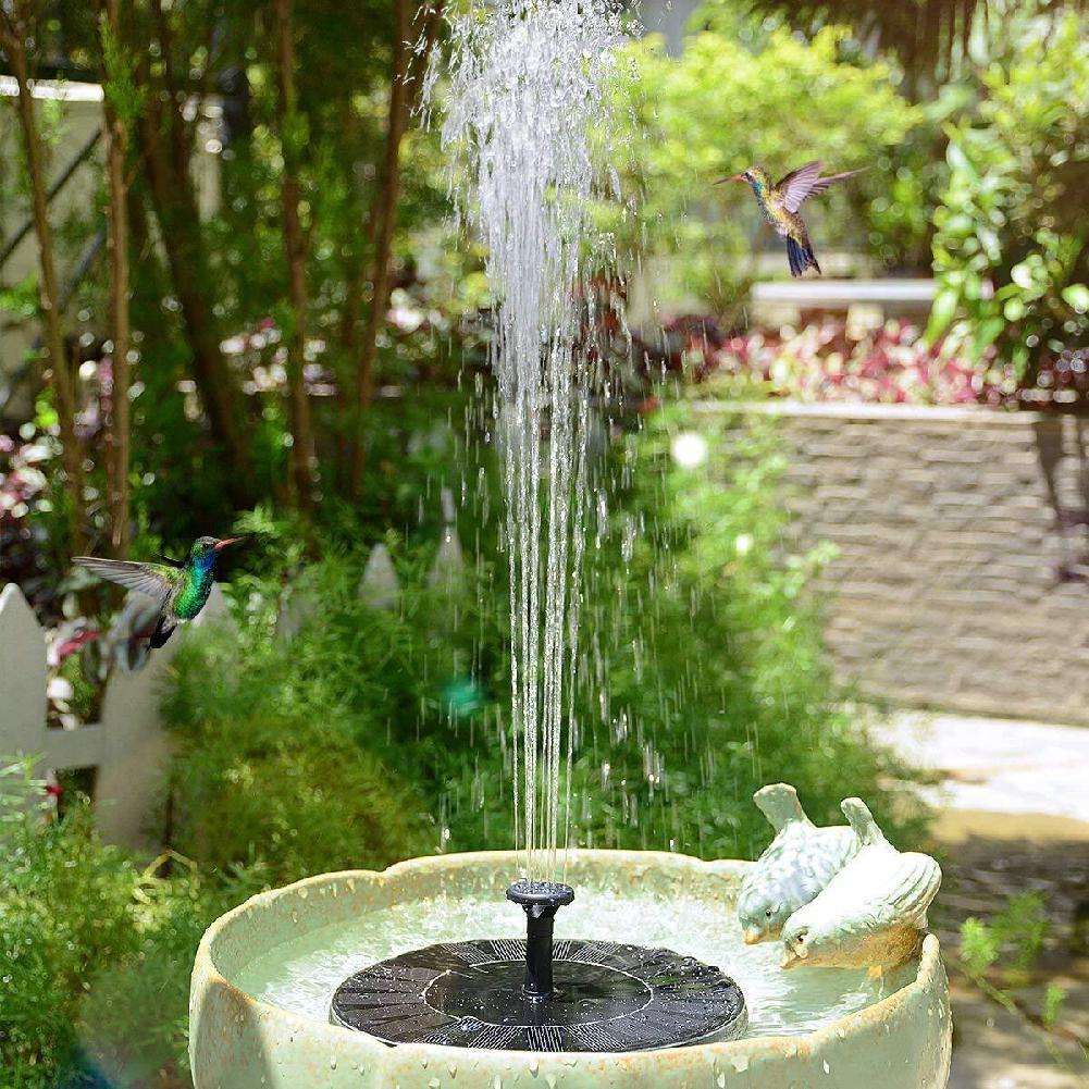 Mini Solar Fountain Solar Water Fountain Garden Pool Pond Outdoor Solar Panel Fountain Bird Bath Fish Tank Park Landscape Decor