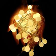 New 1.5M 10M String Lights LED Ball  Fairy Garland Waterproof For Christmas Tree Wedding Home Indoor Decoration Battery Powered string lights new 1 5m 3m 6m fairy garland led ball waterproof for christmas tree wedding home indoor decoration battery powered