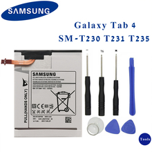 SAMSUNG Original Tablet Battery EB-BT230FBE For Samsung Galaxy Tab 4 7.0 7.0 T230 T231 T235 SM-T230 SM-T231 SM-T235 4000mAh xskemp tablet screen protector film tablet for samsung galaxy tab 4 7 0 t230 t231 t235 9h real tempered glass protective guard