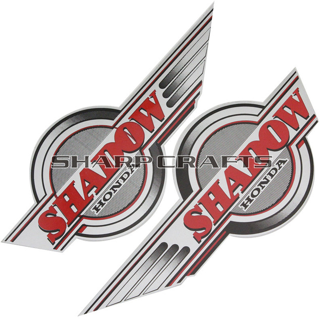Brand new applique gas fuel tank emblem decals stickers motorcycle for shadow vt 400 750 1100