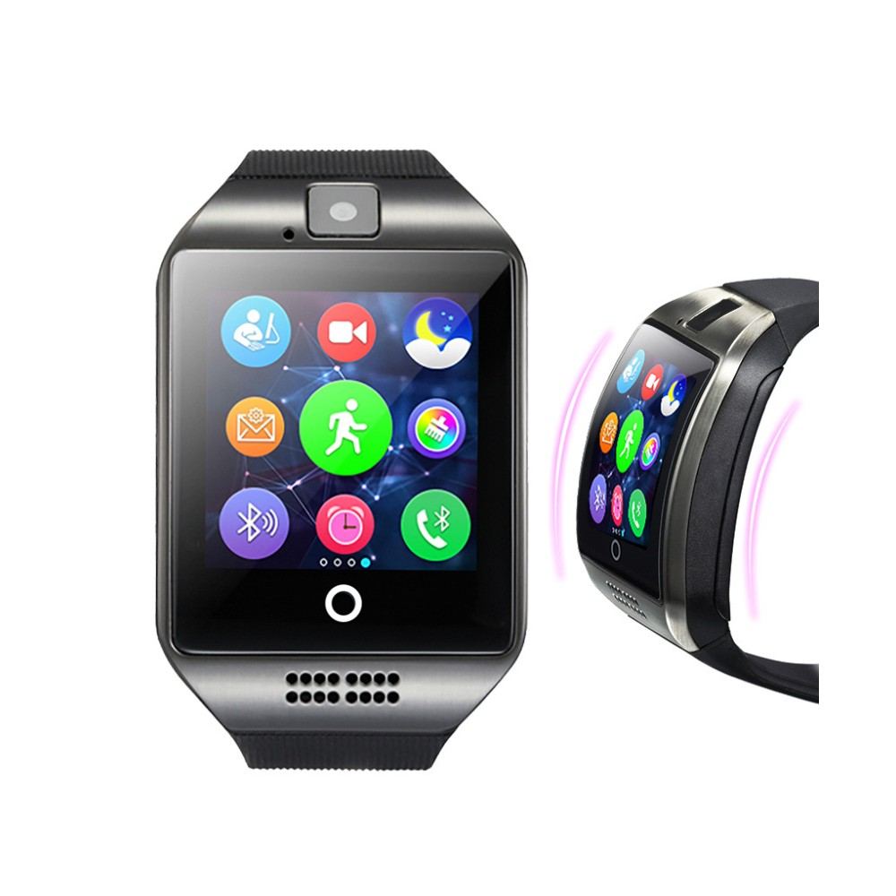 Bluetooth Q18 Smart Watch With Touch Screen Camera Passometer Support TF Card Bluetooth Smartwatch for Android IOS Phone z50 smart watch phone bluetooth3 0 connected with camera support sim card tf card smartwatch for ios and android smartphone