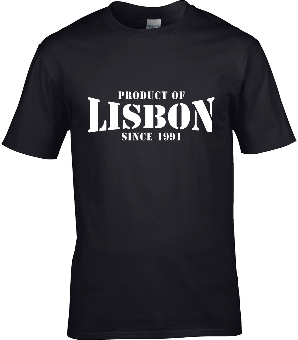Product Of Lisbon Portugal Men T Shirt Place Birthday Gift Year Of Choice Men T Shirt