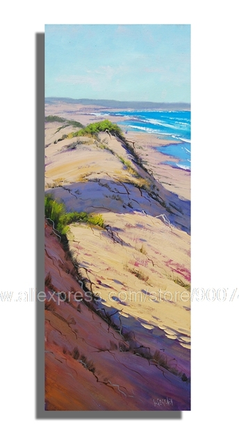 Huge Oil Paintinglarge Vertical Beach Ocean Dunes Seascape Fine Art Home Decor Wall Painting Hand Painted