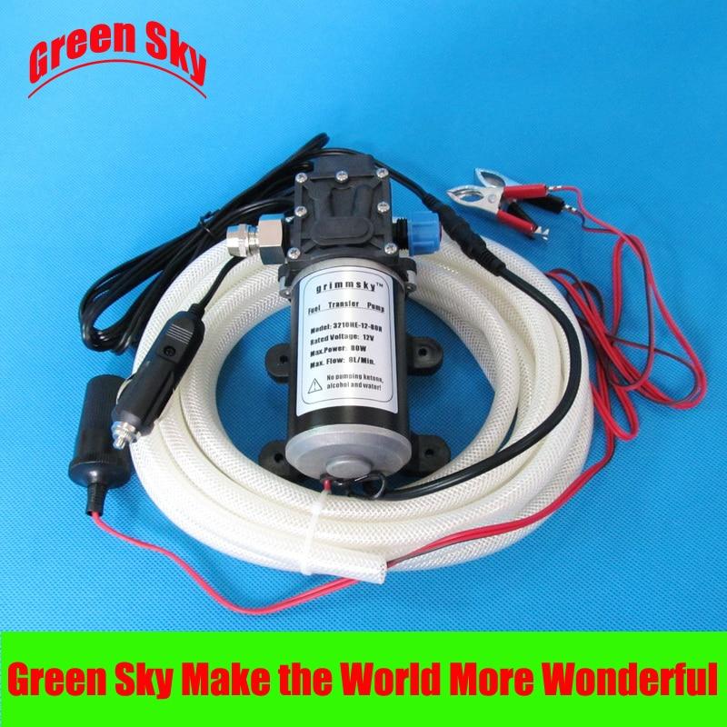 8L/Min DC 80W vehicle mounted kits oil pump 12v high quality 8l min 24v dc 80w food grade pump dc