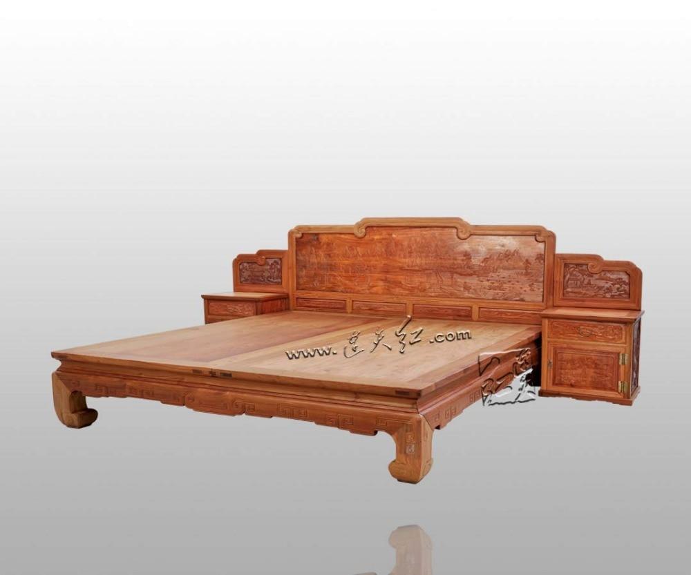 Retro Slaapkamer Meubels : Koning queen volledige bed frame 1.8 2 m classic retro slaapkamer