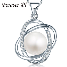 100% Eternally 10-11mm Pure Pearl pendant necklace top of the range 925 silver necklace & pendant for ladies love reward new trend