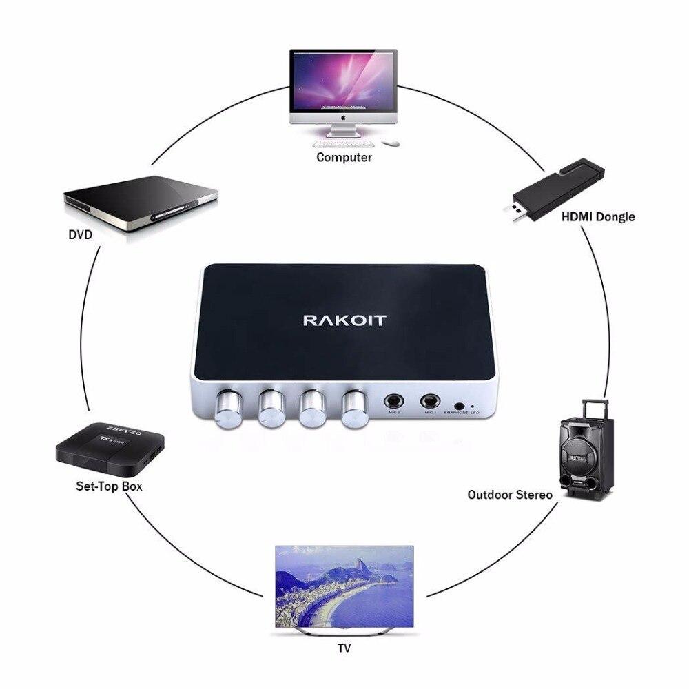 JEDX KM200 HDMI karaoké Mini famille maison karaoké système d'écho chantant Machine boîte karaoké joueurs pour Android TV Box PC téléphones