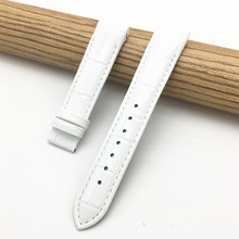 HQ 18mm For Tissot Women Watch  T035210A T035207 Handmade Genuine Leather Bands Strap