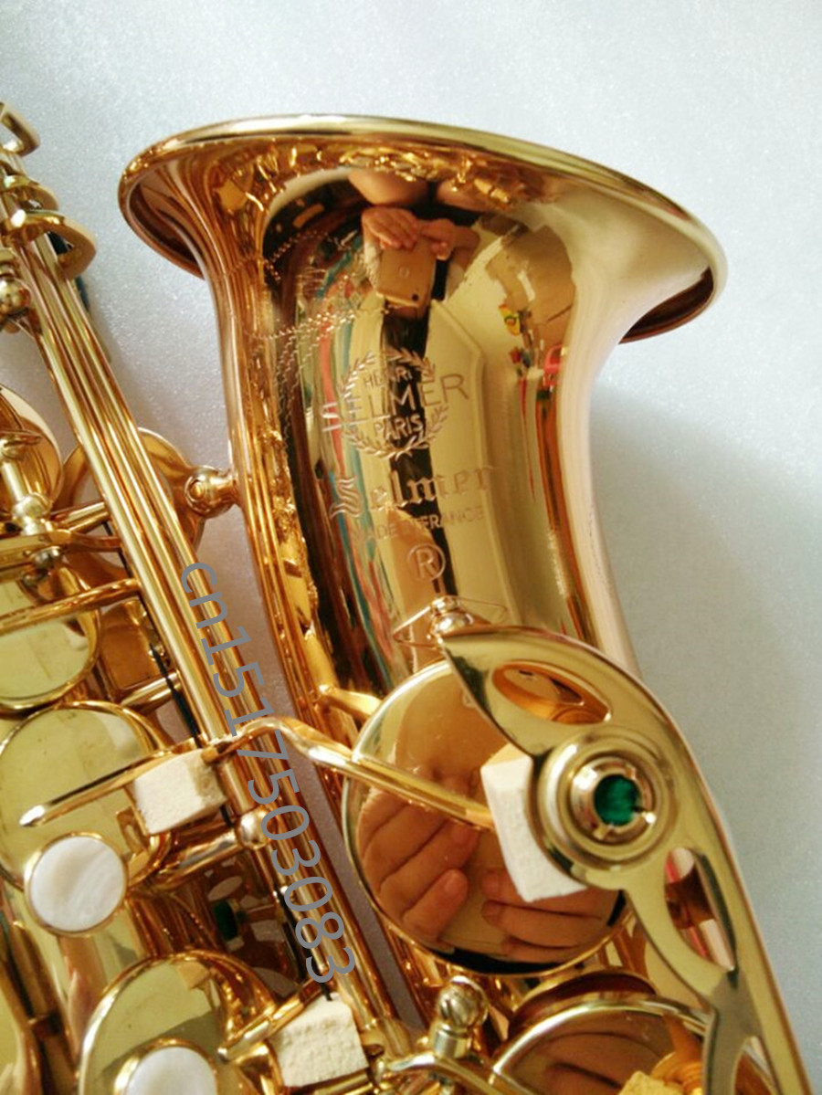 Saxophone instrument free delivery E-flat Sax Alto saxophone Engraved Selmer Gold E promotions midrange elbow limited delivery tenor saxophone free shipping selmer instrument saxophone wire drawing bronze copper 54 professional b mouthpiece sax saxophone