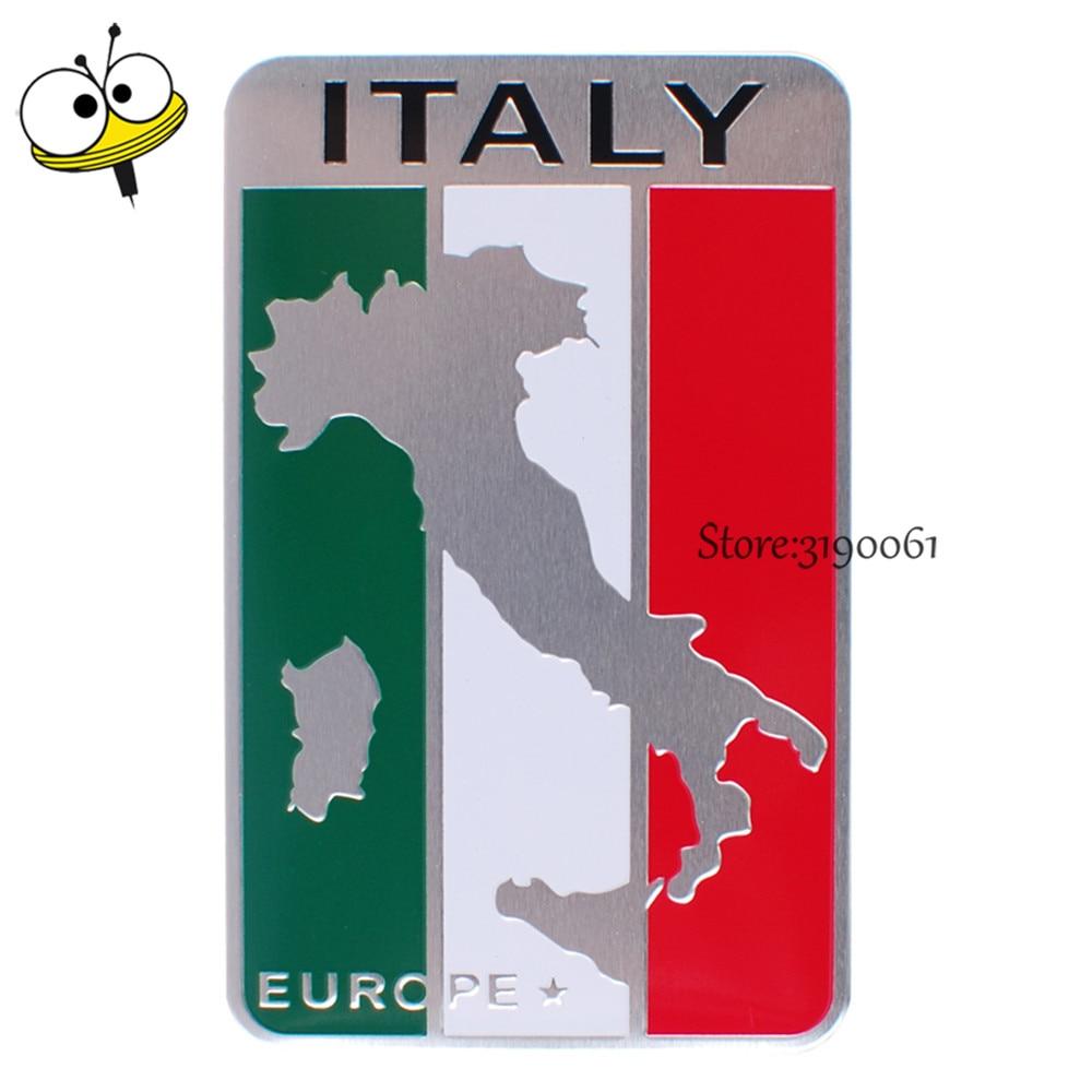 Car Styling Auto Car Sticker Emblem Badge Decal For Italy Flag Logo For Fiat 500 Panda Lancia Renault Clio VW Beetle Golf Tesla