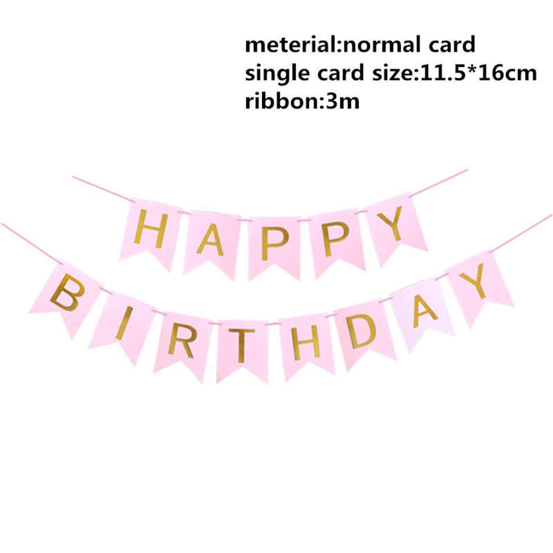 1pc Paper-made Happy Birthday Banner Party Decorations for Children/Baby/Adult First Birthday Boy Party Superhero Party Streamer