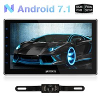 Pumpkin 2 Din 10.1''Android 7.1 Car Multimedia No DVD Player Quad Core GPS Navigation Fast Boot Car Stereo Rotated Wifi Headunit