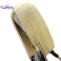 Мечта красоты бразильский Реми волос, парики 613 блондинка 13x6 длинные глубоко средняя часть кружева человеческие волосы парик с волосы младе