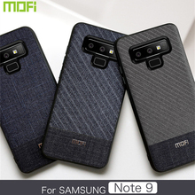 For Samsung Galaxy Note 9 Case Mofi For Samsung Note 9 Case Cover Dark Gentleman Business Style Soft Cover Note9 Case Cloth