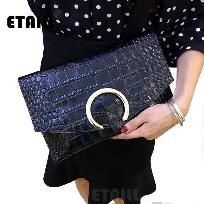 Fashion Crocodile Grain Women s Clutch Bag Leather Women Alligator Envelope Clutches Evening Bag Designer Brand