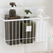 Bathroom Storage basket Shower Organizer Shelf Bathroom Hollow Iron Art Holder Kitchen Rack Simple Storage Basket