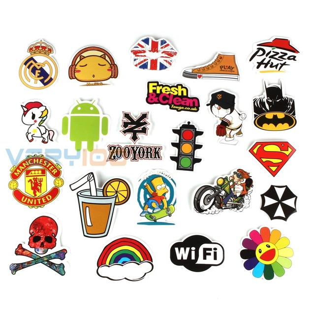 Sticker (Pack of 50pcs) Best Vinyl Decal Stickers Pack All