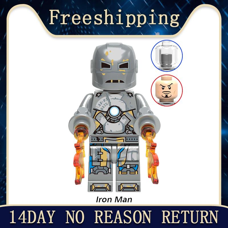 Model Building Blocks Iron Man MARK 1 Collection War Machine Super Heroes Bricks Figures Action For Kids Gift Toys XH1215