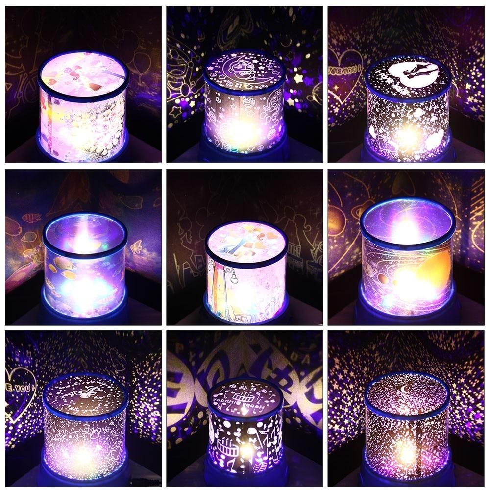 цена на LED Night Light Star Sky Cosmos Master Projector Romantic Room Novelty Starry Sleeping Lights For baby Bedroom Cute Gift