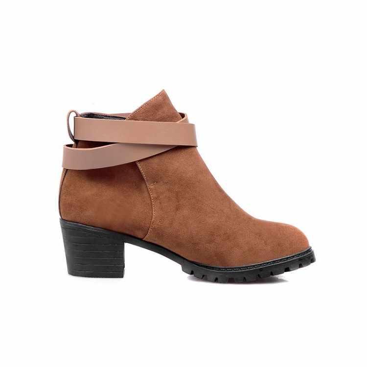 Winter veiligheid lange dij hoge vrouwen vrouw femininas enkellaarsjes botas masculina zapatos botines mujer chaussure femme schoenen 8-6
