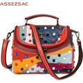 Assez sac women handbags famous brand small messenger bags ladies shoulder bag sheepskin handbags genuine leather bolsa LS7540
